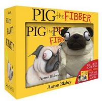 Pig The Fibber Hardcover Book + Farting Plush Boxed Set by Aaron Blabey